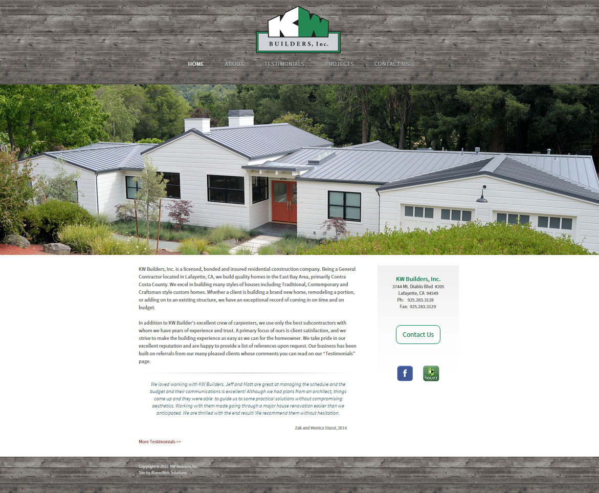 KW Builders Website