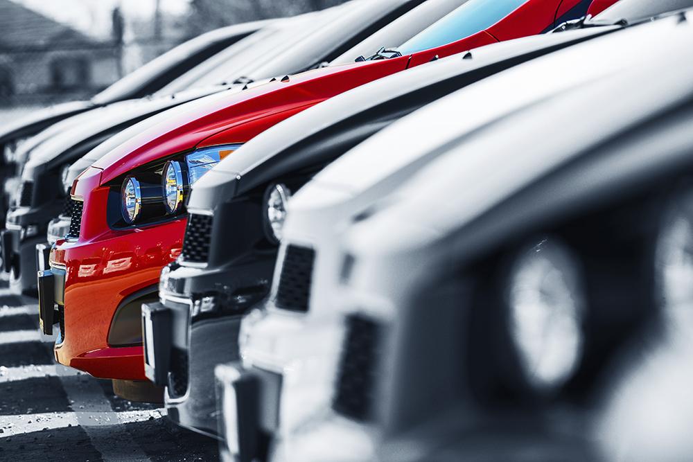Luxury cars close up
