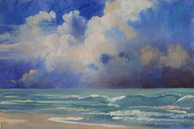 "Sublime Sky, 6"" x 9"" Oil on Panel"