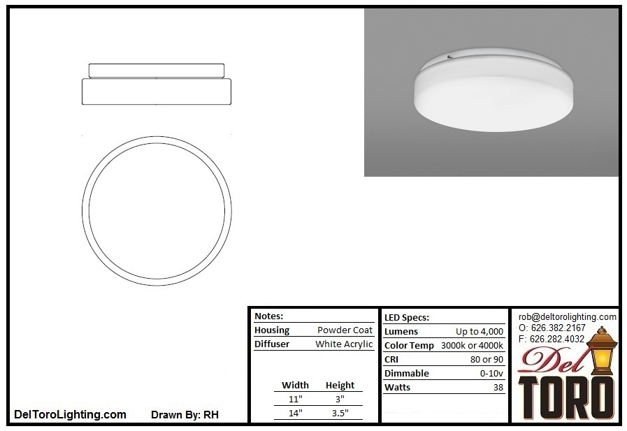010C-Drum Ceiling Mount