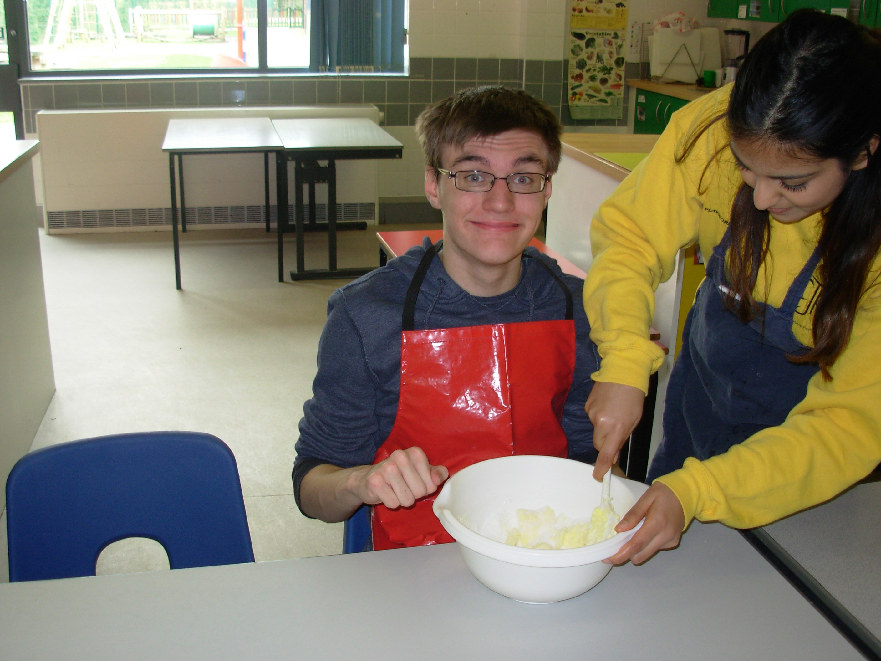 Easter Playscheme : Cookery session