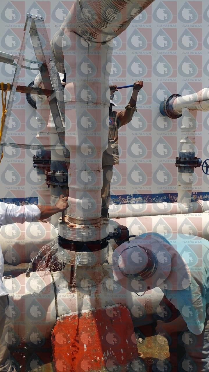 Reparación de fuga en válvula del sistema de llenado y drenando de filtros
