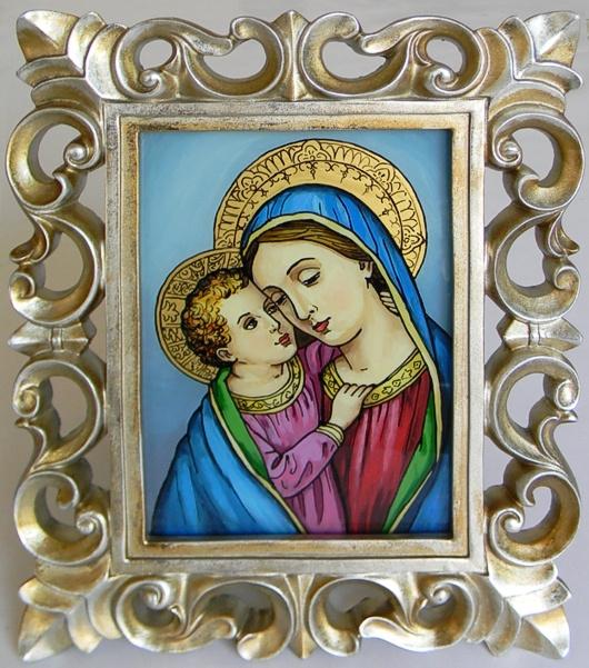 """Madonna with Child"" by Nataliya Guchenia  Size - 11""H X 14""W $125.00"