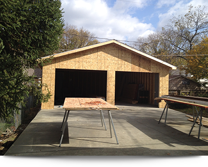 Garage remodeling in progress||||