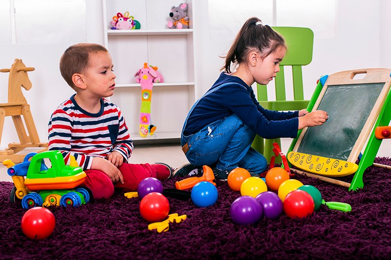 Kids playing in nursery