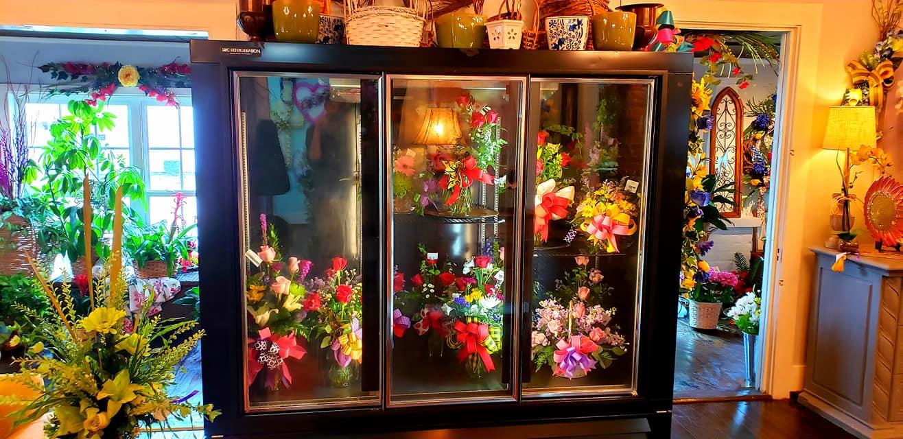 Flowers in a Fridge