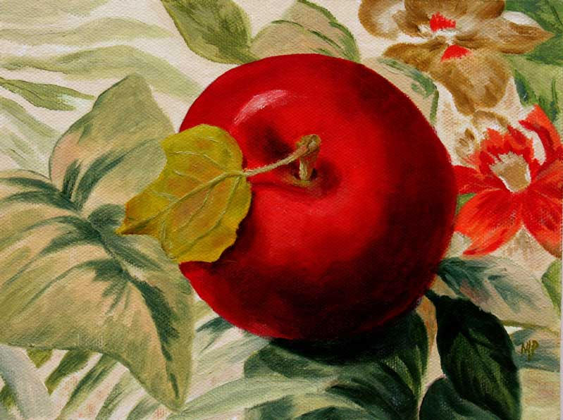 "One Big Apple-6"" x 8"" Oil on Canvas Panel"