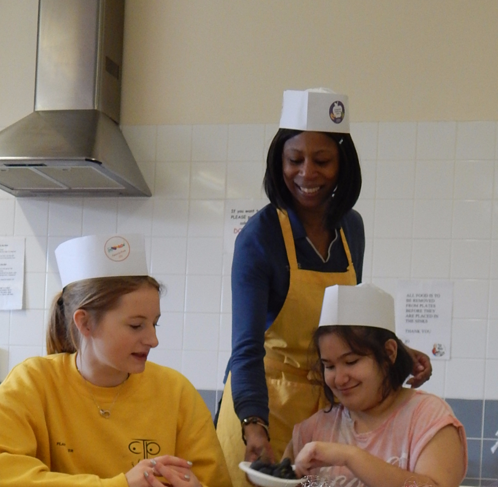 Easter Playscheme: We enjoyed a lovely visit from our lovely friend Sonia, from Tesco Newmarket Road who did some fantastic cookery sessions with us