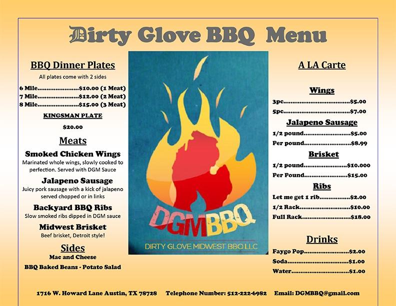 Backyard Coney Island Menu texas barbeque | catering menus austin
