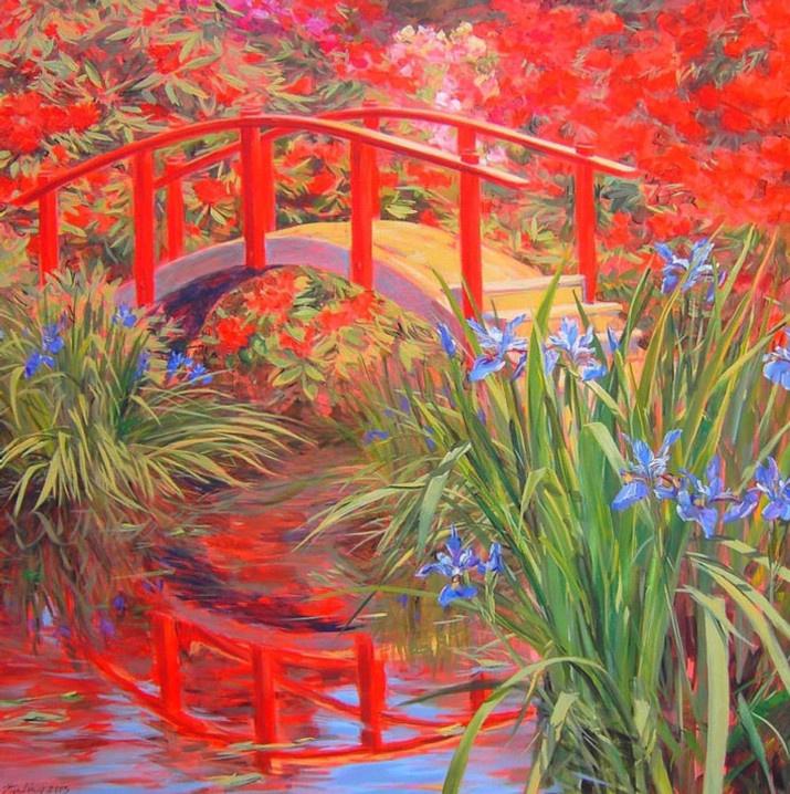 Red Bridge 36x36