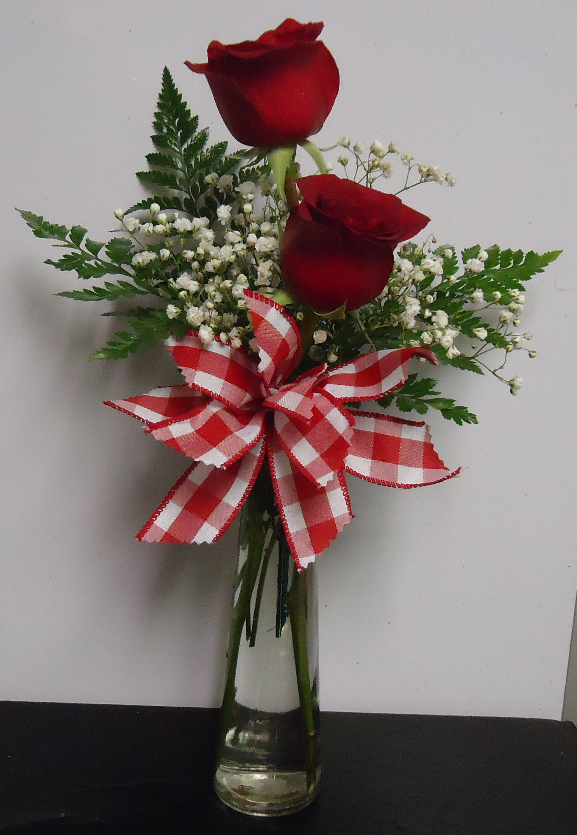 (18) Two Rose Vase $25.00