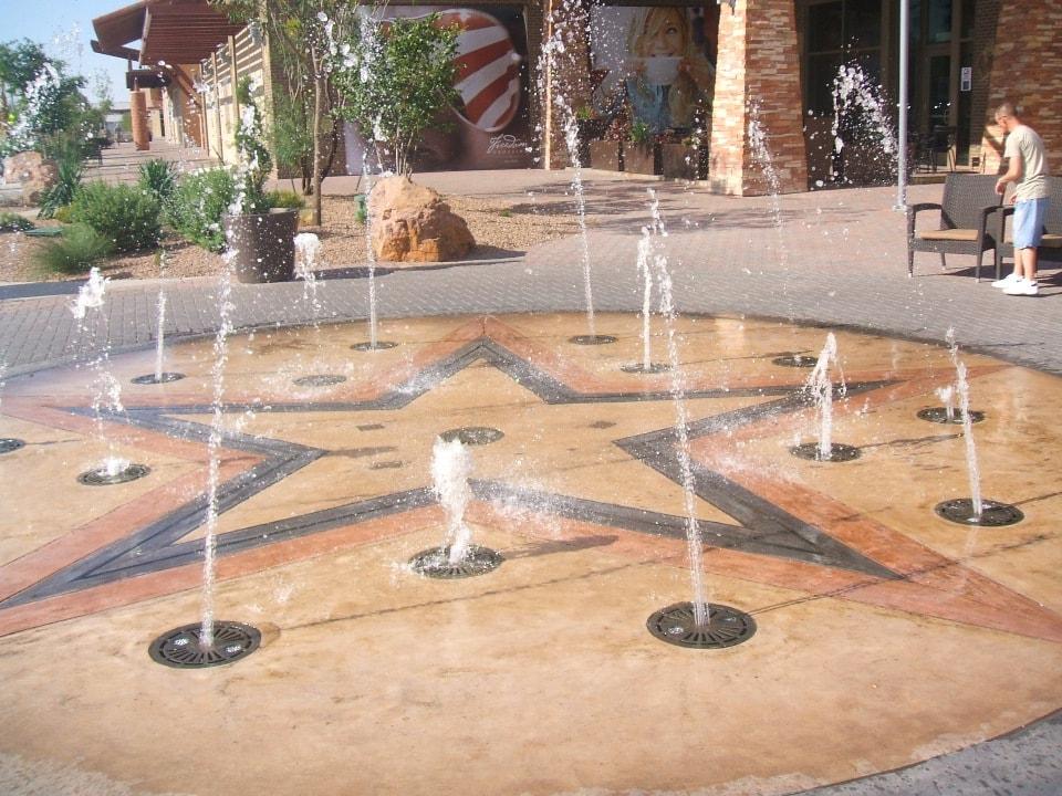 Decorative Concrete Fountain Area