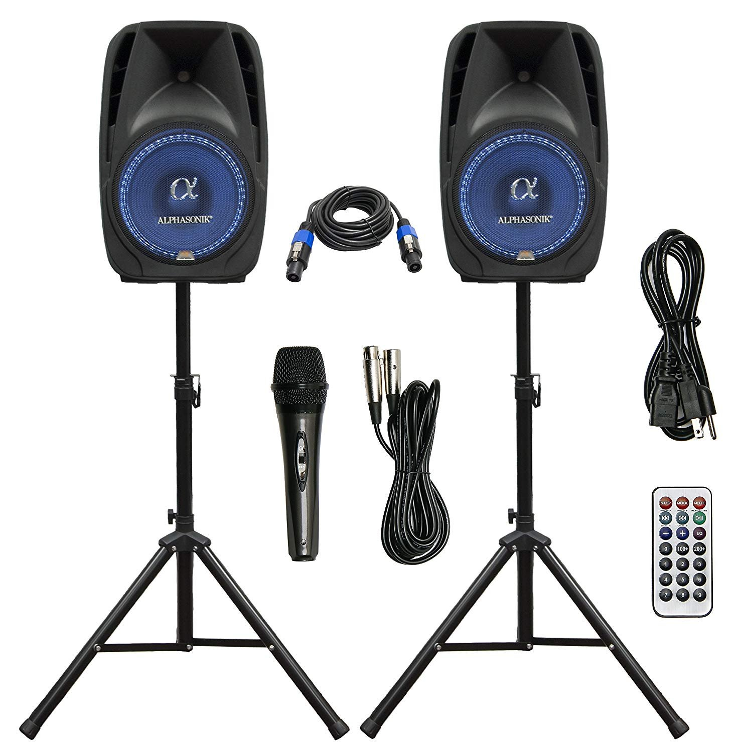Speaker PA System 2500watts $50/day or weekend Bluetooth w/lighting