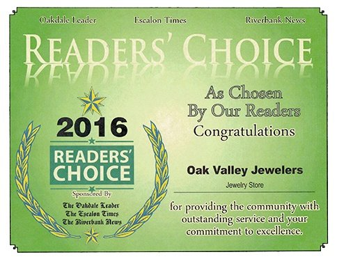 Oak Valley Jewelers Award 2016