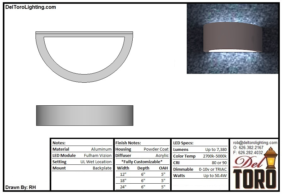 000W-Ring Blade Wall Sconce