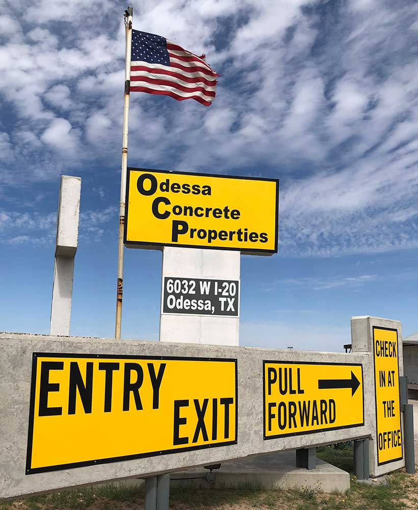 Odessa Concrete Properties, Inc Entrance