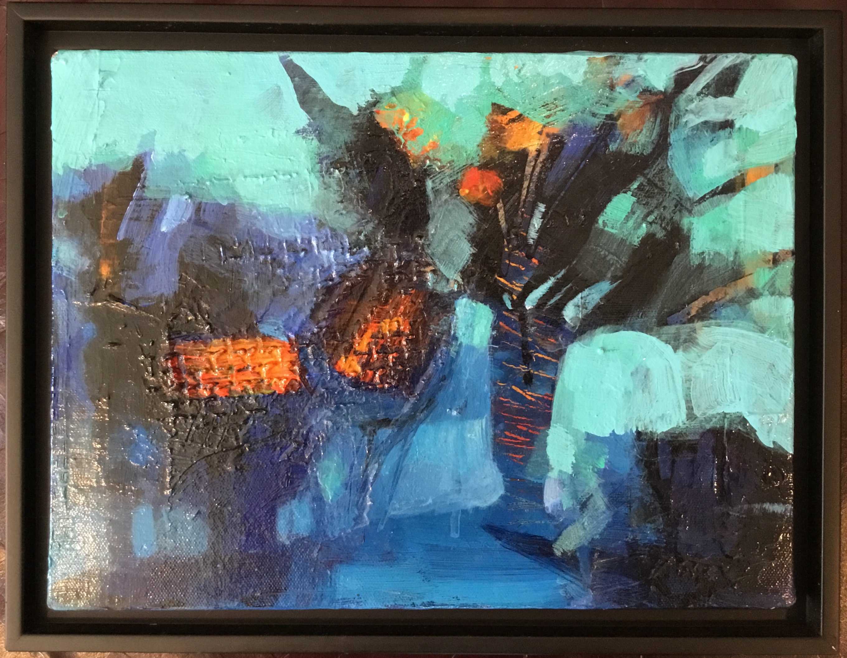 "Blue Wings Acrylic 12"" X 9"" $250."
