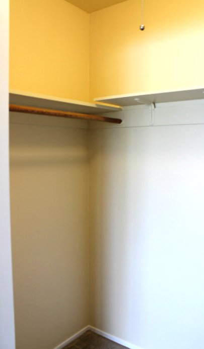 Left side of walk-in closet.