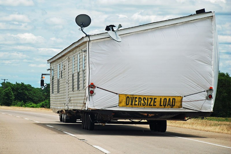 House Trailer on Interstate
