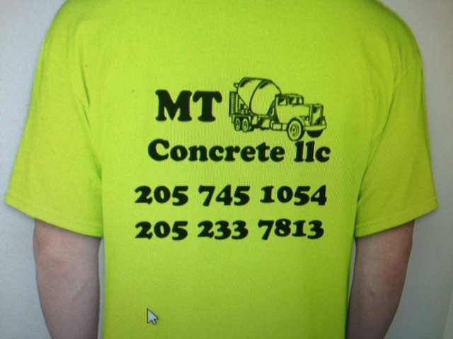 MT Concrete LLC Shirt Print