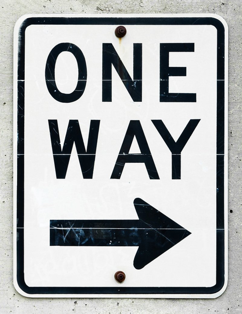 One way sign||||