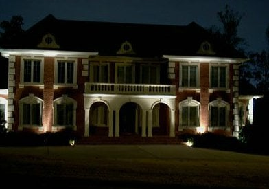 Lighted Front of House||||