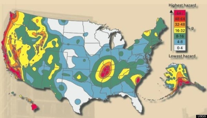 U. S. Seismic Hazards Can Be Detected by E.M. Activity