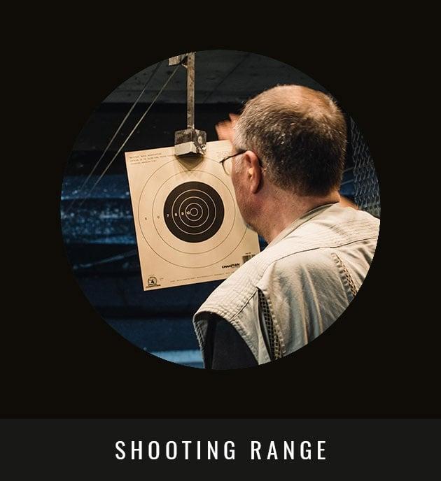 Man In A Shooting Range
