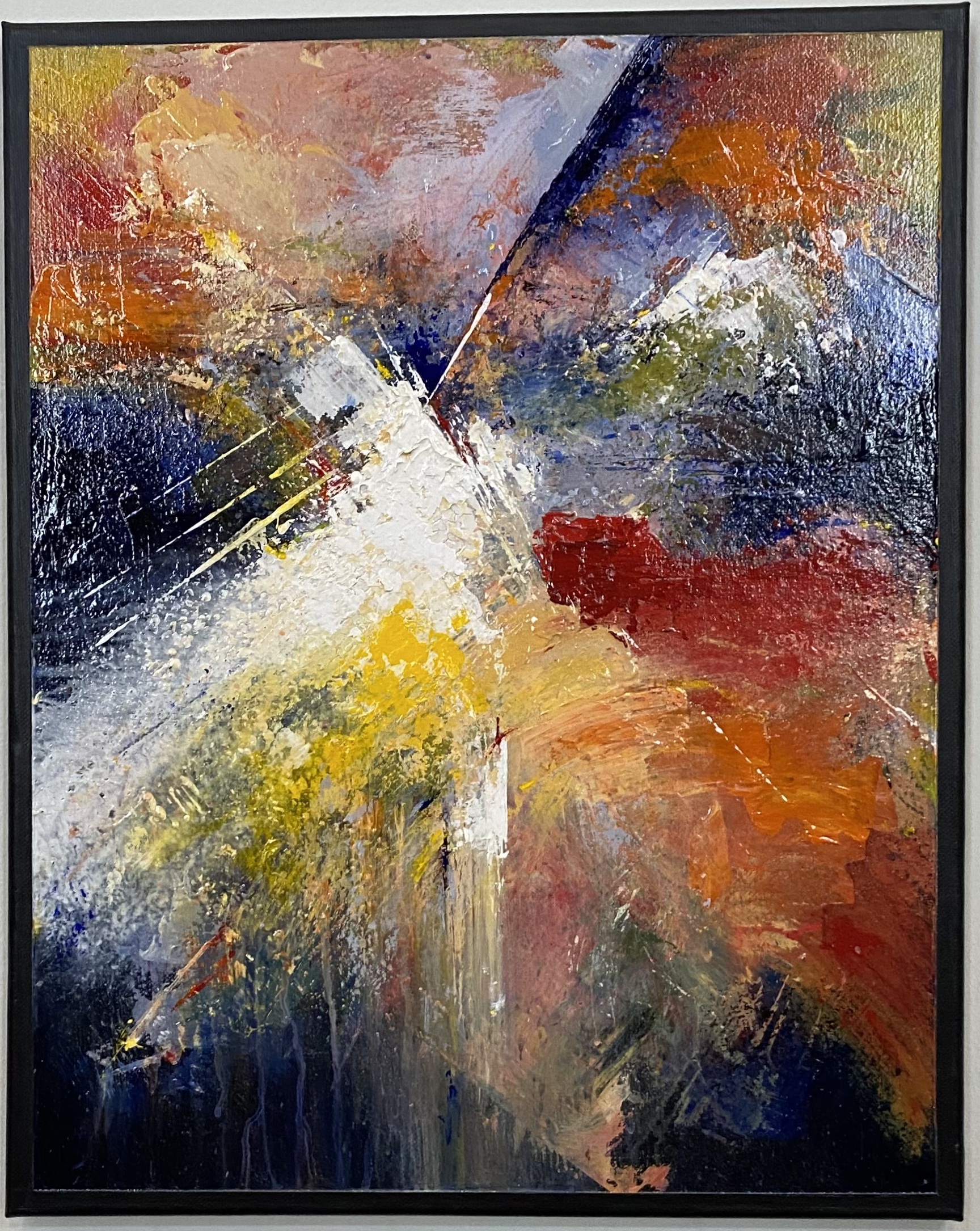 "Abstract Acrylic 16"" X 20"" $165."