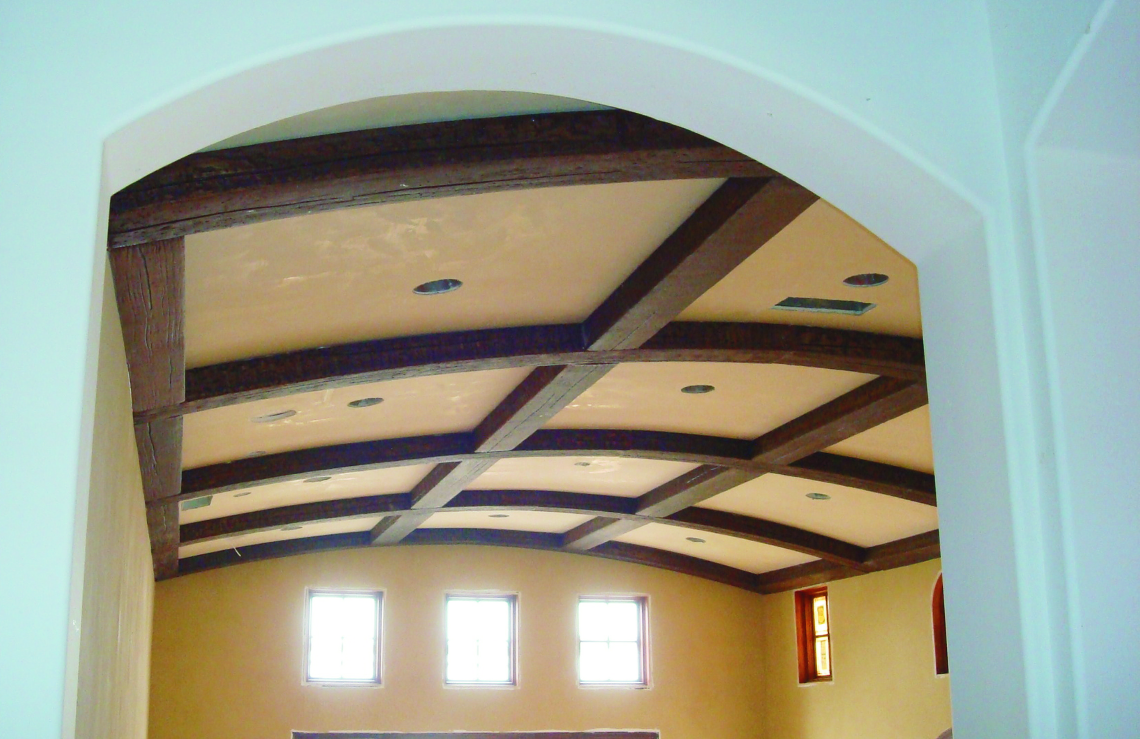 Arched Faux Wood Beams