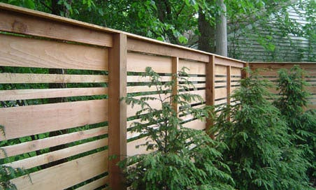 Custom Horizontal Fence Panels