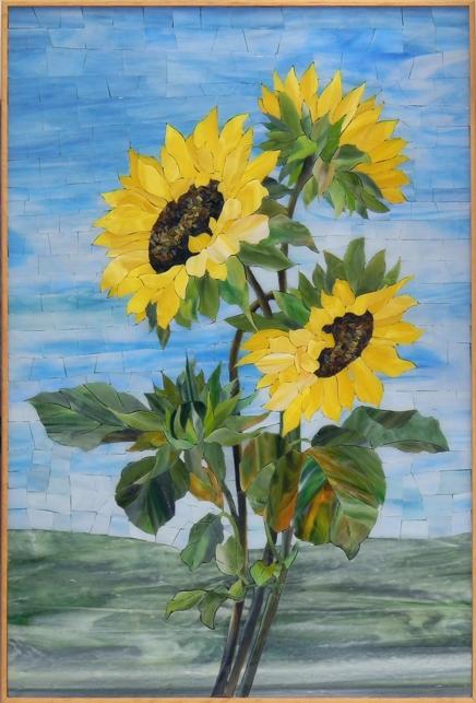 """Sunflowers"" by Nataliya Guchenia Size - 16""H X 24""W $1,800.00"