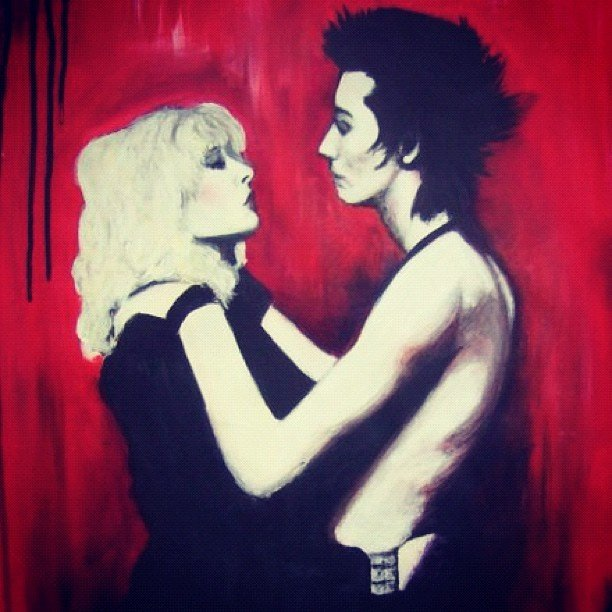Sid & Nancy, Acrylic on Paper.