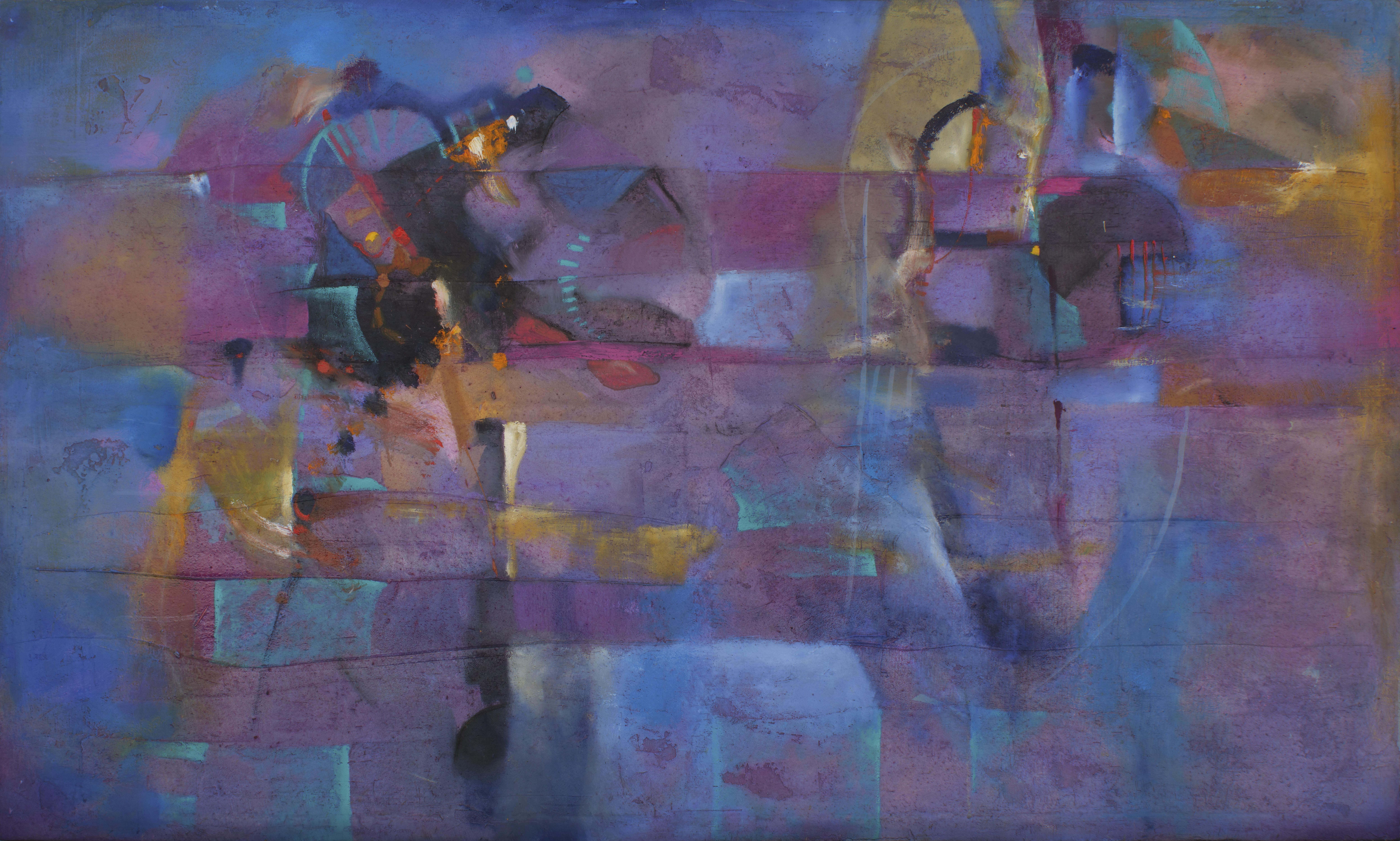 Vibraciones de Andrómeda óleo s/tela 120 x  200 cms. / 47 x 79 inches