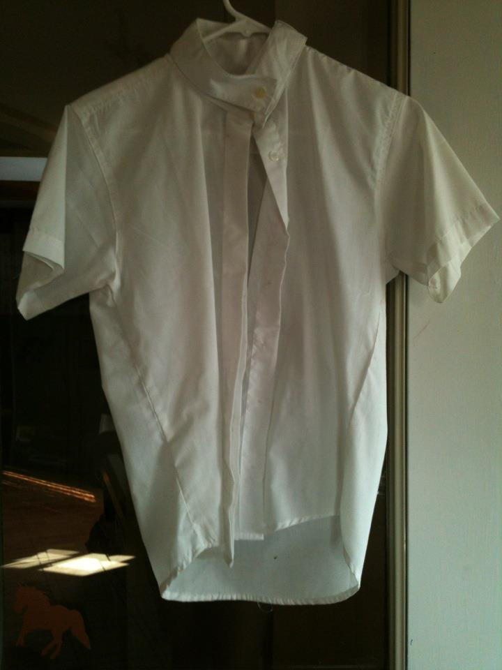 Annie Rider English shirt. Mint condition, never worn, no stains, all buttons. Asking $20. Child's size 12.
