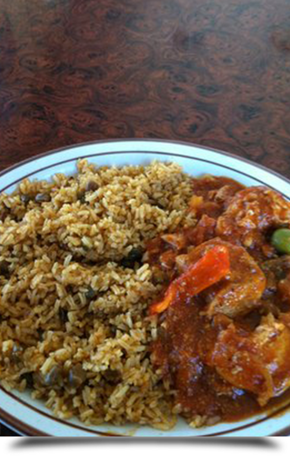 Mexican rice and shrimp dish    