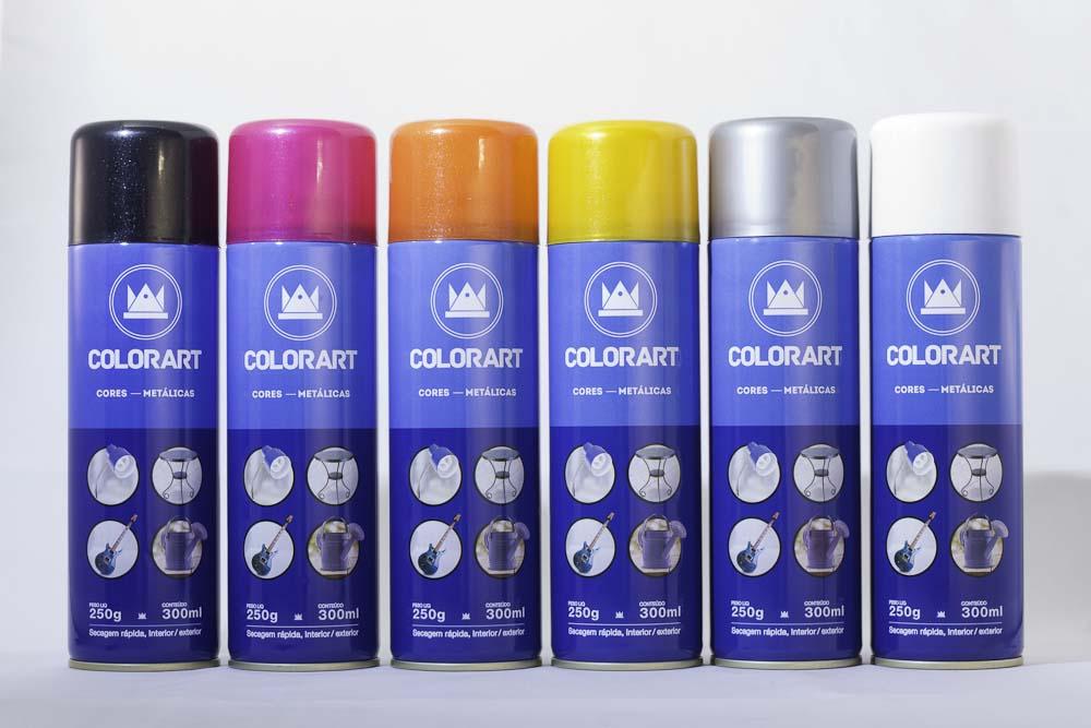 Spray Cores Metálicas Secagem Rápaida, Interior/Exterior