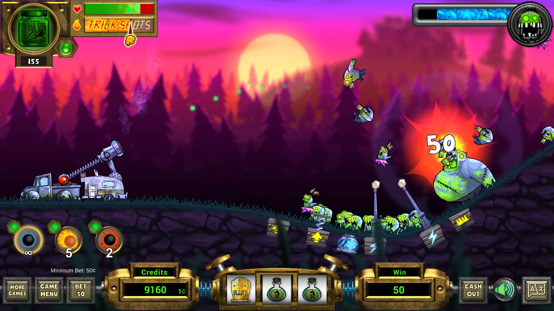 Zombie Heat Gameplay Screen