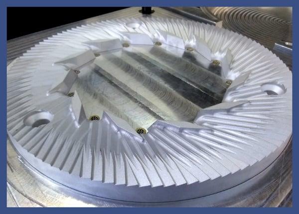 CNC Machined Aluminum Core Box (detail)