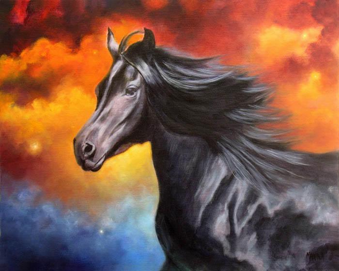 """Black Thunder 16"""" x 20"""" oil on canvas"""