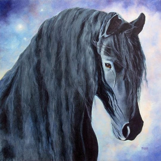 """Hessel-The Gentle Giant 20"""" x 20"""" Oil on canvas"""