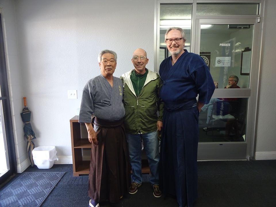 Sato Seiji Sensei, Guy Power Sensei and Tex.