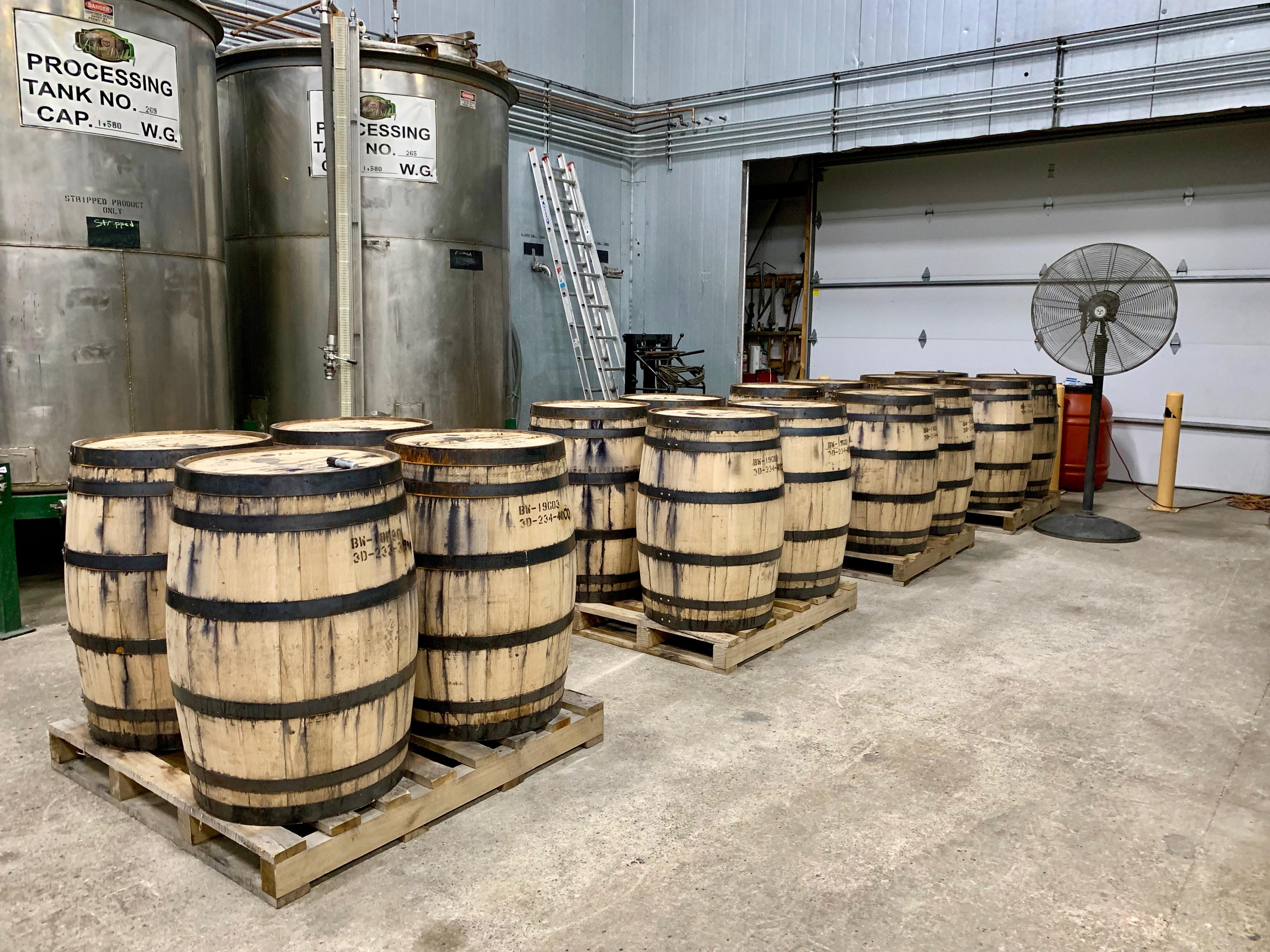 Freshly Filled Barrels - Kentucky Artisan Distillery