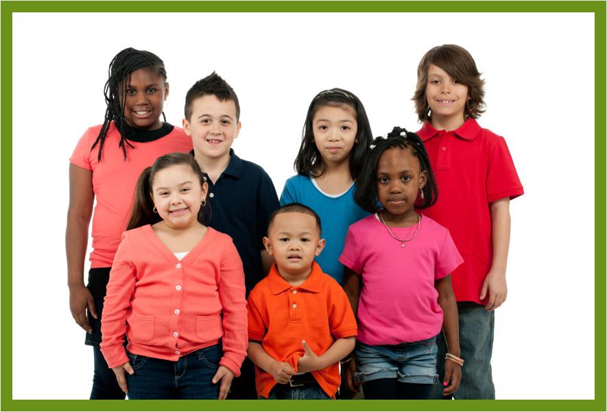 Children standing together||||
