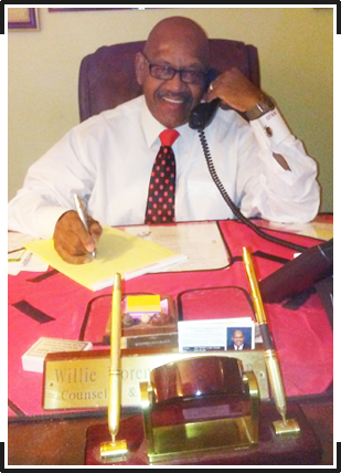 Attorney, Willie Florence Sr. Sitting At His Desk