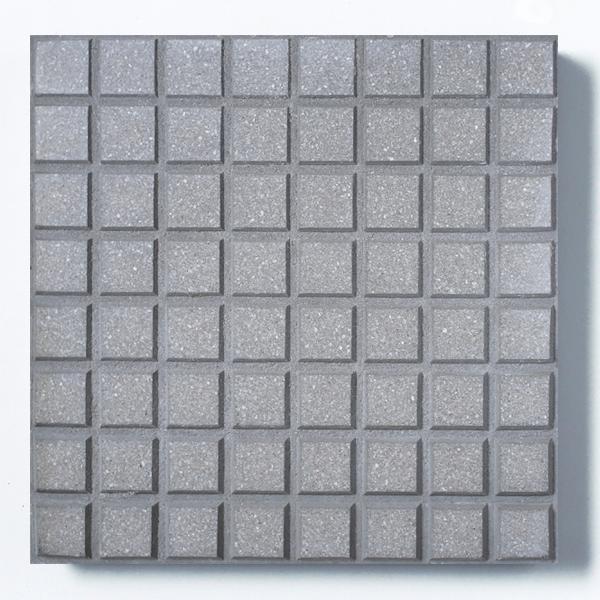 Adoquinado recto 64 panes gris con blanco