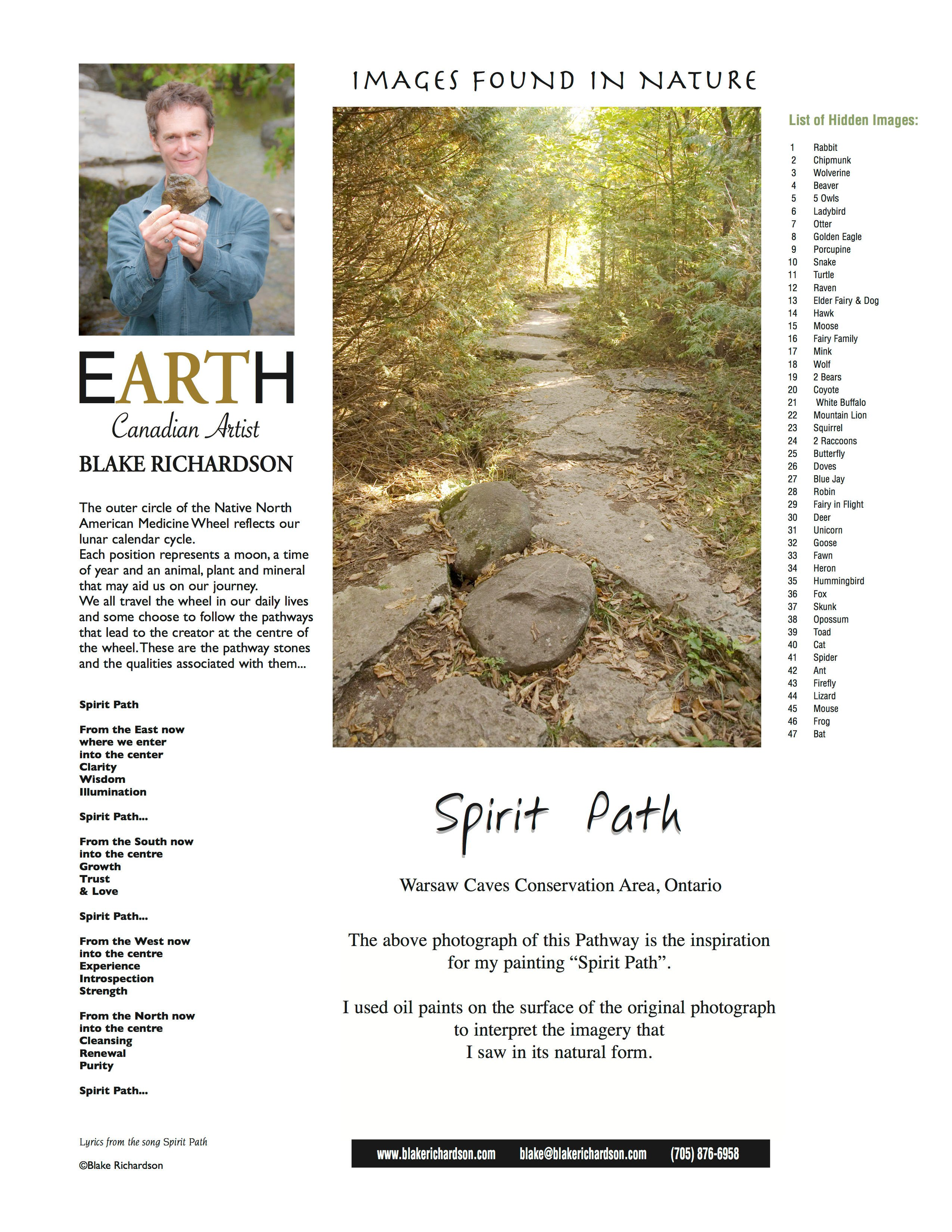 Spirit Path Backing Page