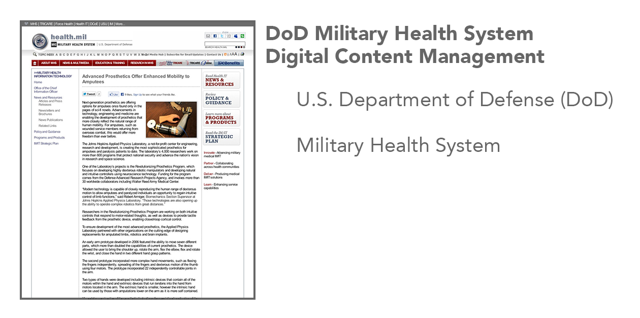 DoD Military Health System Website