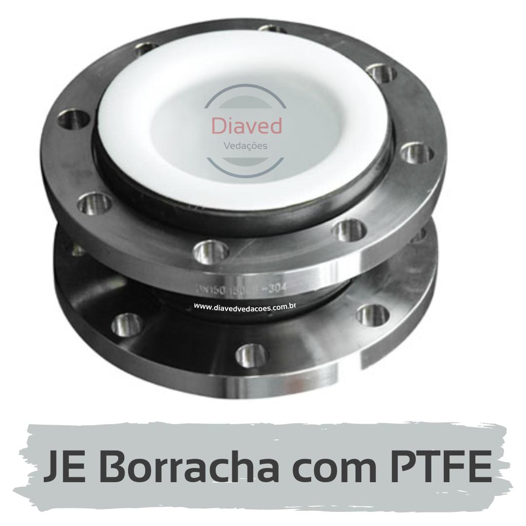 Junta de Expansão em Borracha com Interno em PTFE