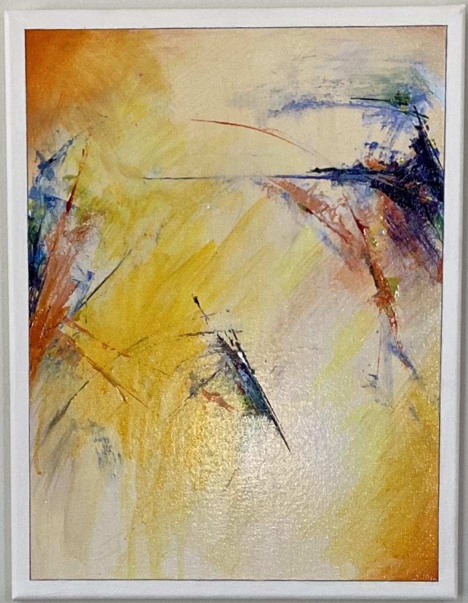 "Abstract Acrylic 11"" X 14"" $125."